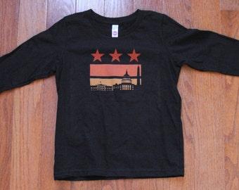Size 12 - Sunset Flag Long Sleeve Tee