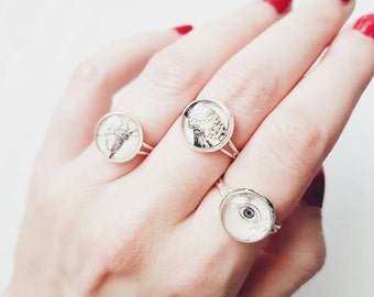 Anatomy Jewelry | Heart | Brain | Eye | Lungs | Skull | Creepy Photo Ring | Grungy Gift | Jewellery | Jewelry