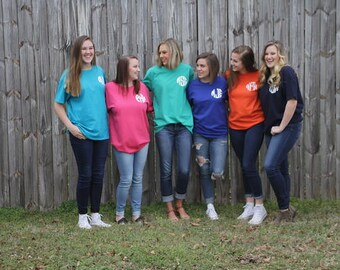 Monogrammed Short Sleeve Shirts