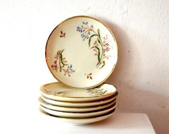 Vintage Eschenbach Floral Snack Teller Set / Vintage Bayern Deutschland Botanik Design Porzellan Mutter Tray / Vintage Schmuck Tablett / Dessertteller
