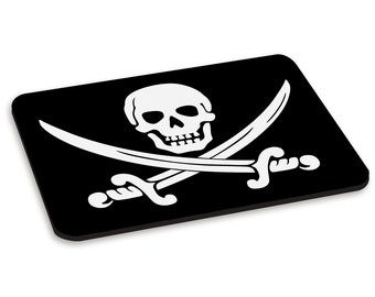 Pirate Skull And Crossbones PC Computer Mouse Mat Pad