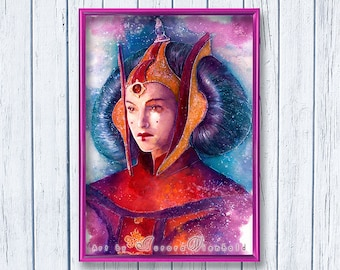 You must have hope - Instant Download - Printable Version from Watercolor (Natalie Portman, Padme, Queen Amidala of Naboo, Star Wars) 8 x 10