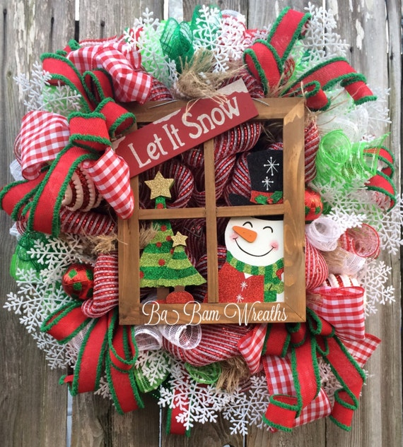Snowman wreath snowman decor snowman door christmas wreath for 3 wreath door decoration