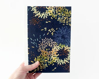 "DELILAH • Handmade Journal, Large, 5.75""x8.5"", Lined or Unlined • Lay flat pages • Notebook • Blank book • Writing journal • Back to School"