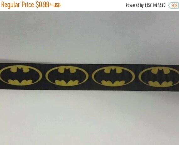 """SUPER SALE BATMAN 7/8"""" 22mm Grosgrain Hair Bow Craft Ribbon 781539"""