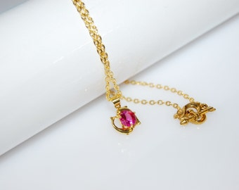 Dolphin necklace gold plated Dolphin gold plated necklace dolphin gift for her necklace