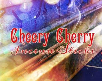 Incense Sticks - Wild Cherry Incense - Stick Incense - Black Cherry Incense - 20 Fragranced Incense Sticks - Cherry Incense