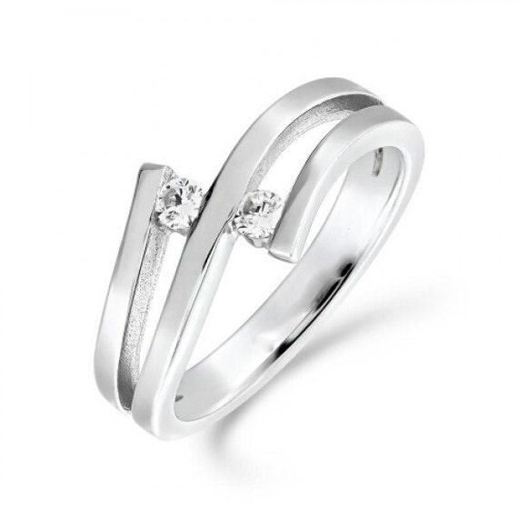 010ct Tension Set Diamond Engagement Ring