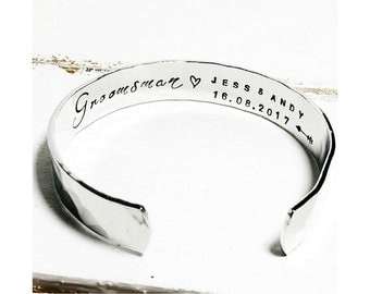 Groomsman Gift | Gift ideas for him | Mens Gift ideas | Usher Gift Ideas | Wedding party gifts | Mens Cuff Bracelet (W265)