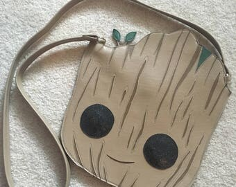 Baby groot head purse