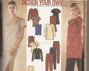 Simplicity 9868 Misses Tunic, Top, Skirt and Pants Pattern, Size HH, 6,8,10,12. Circa 2001