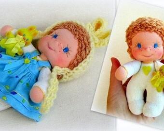 Waldorf doll Fabric doll Small doll Unique doll Baby doll Soft doll Waldorf toy Cloth doll Rag doll Soft toy Handmade doll Child doll