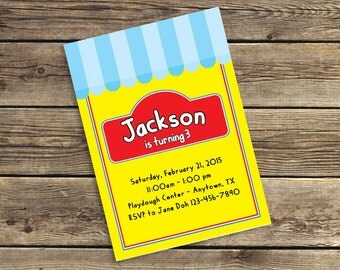 Play Dough Printable / Downloadable Birthday Party Invitation PDF