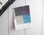 Faux Glitter Header Planner Stickers for a Variety of Planners to match Life's a Gem - GH28