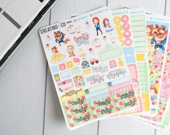 Tale as Old as Time Weekly Planner Kit for No-White Space and White Space Planners - FK01