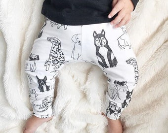 Black and White Dogs Baby Leggings - One left!