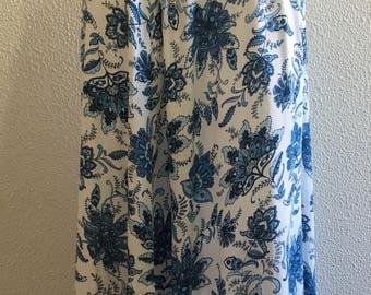 Long skirt in viscosa stampta