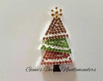 Crystal Christmas Tree Needle Minder