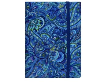 Kindle Voyage Case, Kindle Voyage Cover, Amazon Kindle Fire HD 6 7 8 Case, Kindle Fire HD 8.9 Case, Kindle Fire HDX 8.9 Cover, Blue Paisley