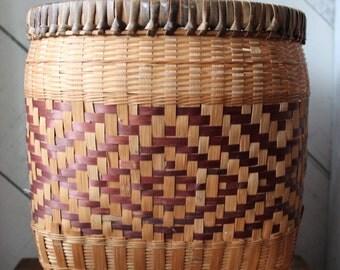 Oblong Patterned Floor Basket