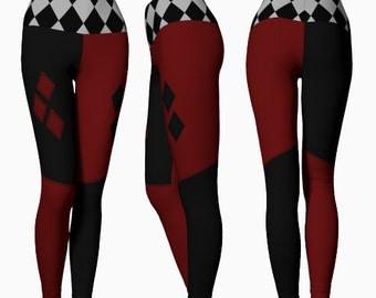 Harlequin Yoga Leggings (harley quinn inspired)