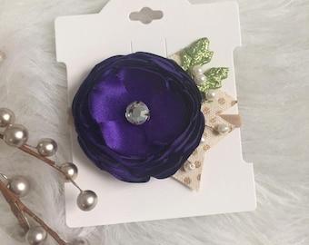 Purple Singed Flower  Headband | Nylon Headband | Newborn Headband | Baby Headband