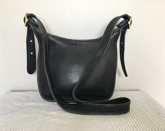 Vintage COACH Black Leather Janice Legacy 9950 Shoulder Bag Crossbody Purse
