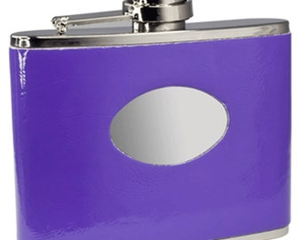 Personalized Flask for Women, 4oz. Orchid Purple Stainless Steel Flask, Bridesmaid Flask, Mother's Day,  Birthday, Anniversary Gift -VF1102A