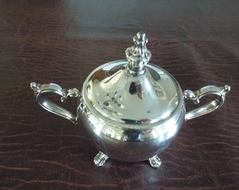 Silver Plate Covered Sugar Bowl   Vintage Creamer, Vintage Dish ware, Gift under 25 Downton Abbey