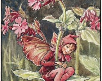 The Red Campion Fairy - Counted cross stitch pattern in PDF format