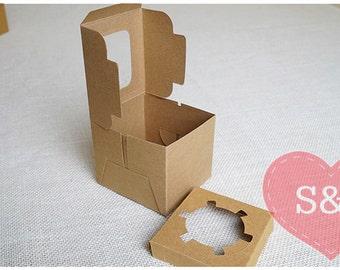 10x 1 Holder - Kraft Brown Cupcake/Cake/Muffin cardboard Boxes