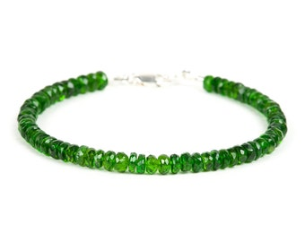 Chrome Diopside Bracelet, Delicate Gemstone Bracelet, Handmade Gemstone Jewelry, Gemstone necklace, Handmade Jewelry, Gemstone Jewelry