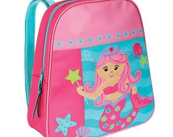 Personalized Girls Mermaid Backpack Girls Mermaid Back Pack, Mermaid Back pack, preschool Kindergarte backpack