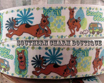 "3 yards 1"" Scooby Doo grosgrain ribbon"