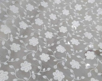 "Rose Lace Fabric sell by yard ,IVORY skirt embroidery Lace , 49"" Wide Rose Lace fabric  for Wedding Dress,Bridal Veil,Organza Lace"