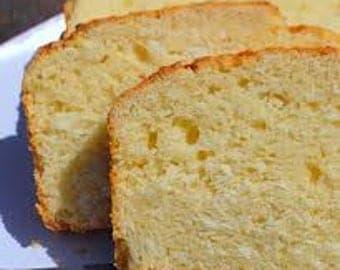 Homemade Coconut Bread/2 lbs./Gluten Free Bread/Sugar Free Bread/Vegan Bread/Mothers Day Gift/Fathers Day Gift/Edible Gifts/Birthday gifts/
