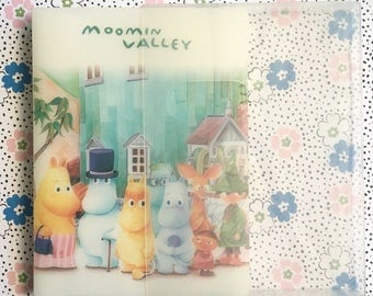 Kawaii Moomin vintage 90s photo folder / card holder made in Japan