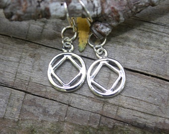 Narcotics Anonymous earrings, Recovery gift, Sobriety, Recovery, NA, clean time, Serenity, Rehab gift