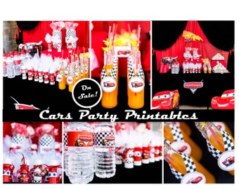 Cars Birthday Party, Cars Party, Disney Birthday Decorations, Cars Party Printables, Disney Birthday, Customized Party