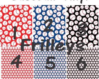 Vinyl, Pattern Vinyl, Baseball Print Vinyl- HTV or Adhesive Vinyl-