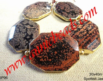Beautiful Red Poppy Spotted Jasper with Gold Lining!!!!!