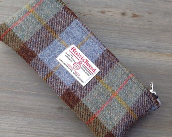 Harris tweed pencil case pencil pouch student desk storage