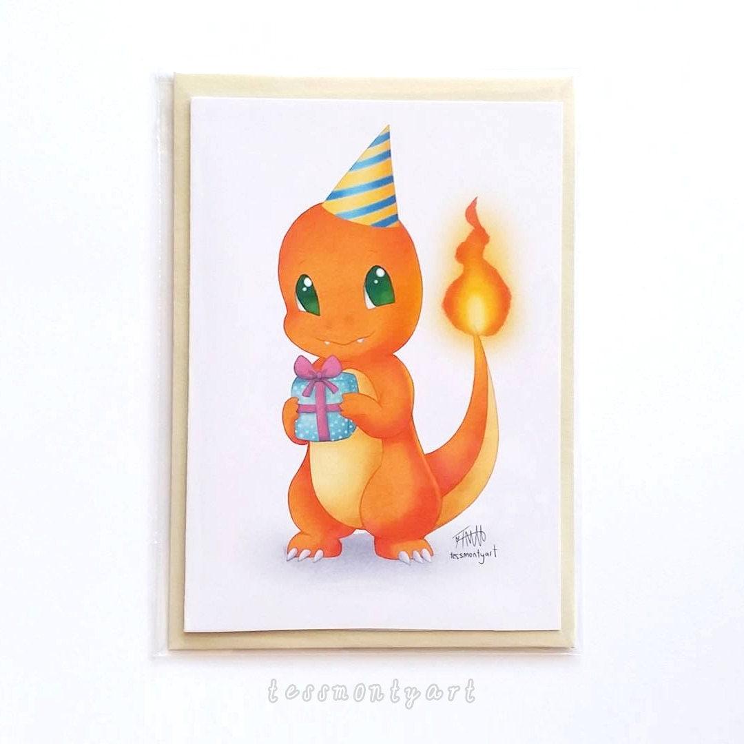 Birthday Cards Pokemon: Pokemon Birthday Card Charmander Blank Inside