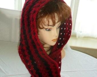 Hooded Scarf, Hooded Scarves,  Scarf, Scarves, Crocheted Hooded Scarf, Hood, Knitted Hooded Scarf, Knitted Scarf, Knitted Hood