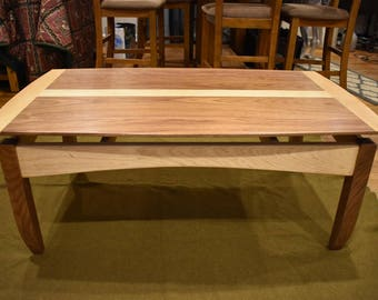 Coffee Table, Handcrafted 'Floating' top Coffee Table