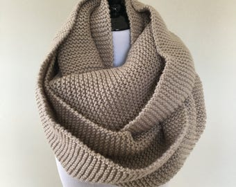 Knit Blanket Infinity Scarf // Shrug // Hood Scarf