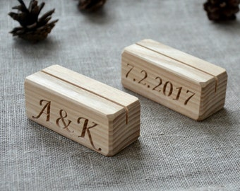 80 Personalized Wood Table Number Holders for Wedding and Party, Custom Rustic Table Number Holder, Restaurant Table Number Holder