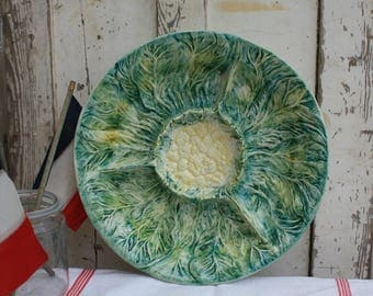 Majolica/Majolica Plate/Serving Plate/Majolica Pottery/Large Majolica Plate/Majolica Bowl