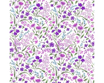 Garden Delights 8GSE-3 Purple by In The Beginning Cotton Fabric Yardage