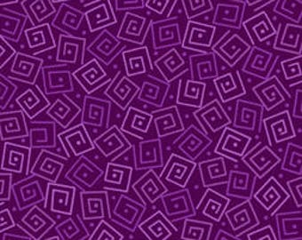 Squares - Grape 24779-V by Quilting Treasures Cotton Fabric Yardage